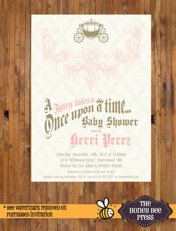 Once Upon A Time Baby Shower Invitation Royal Baby Shower Etsy