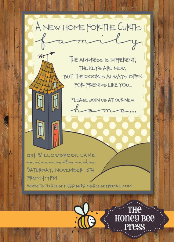 New home housewarming party invitation new home open house etsy image 0 stopboris Image collections