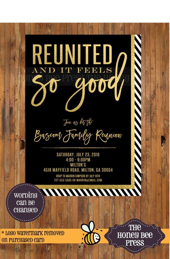 Familie Reunion-Einladung wieder vereint und es fühlt sich