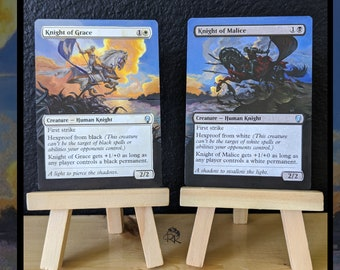 Altered Magic Card - Knight of Grace and Knight of Malice