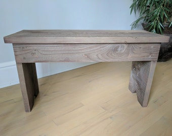 Wood Bench for entryway, mudroom, kitchen, rustic look