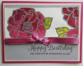 Spring Floral Birthday Card HB14