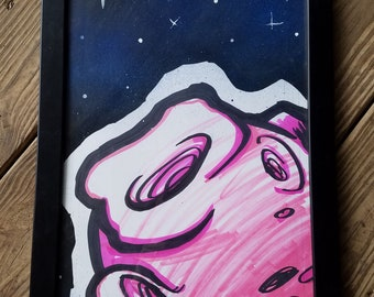 "Pink Moon 11"" x 17"" original painting by Jim Wallace"