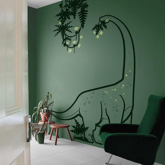 anniversaire Zueyen Lot de 14 stickers muraux dinosaures lumineux qui brillent dans le noir en PVC amovible pour chambre /à coucher salle de classe salon f/ête de No/ël salle de bain