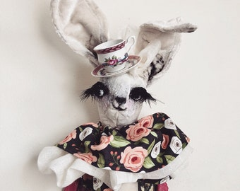 Lil Swanky Teacup Hare Faux Taxidermy | baby | teacup| girls| art | baby | baby shower | nursery | mounted head | stuffed animal