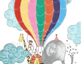 Up, Up , and Away! - A4 Giclee Print