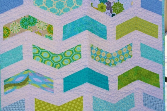 Candy Chevron Baby Quilt Pattern Instant Download Etsy