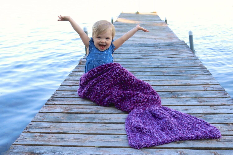 Crochet Mermaid Tail Blanket Pattern Easy Crochet Mermaid Etsy