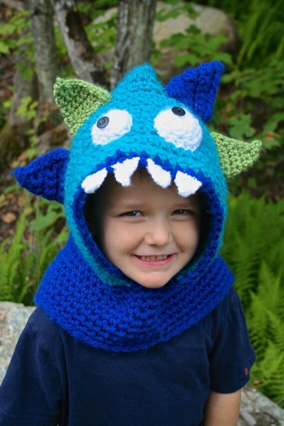 Monster mit Kapuze Haube häkeln Muster HÄKELANLEITUNG | Etsy