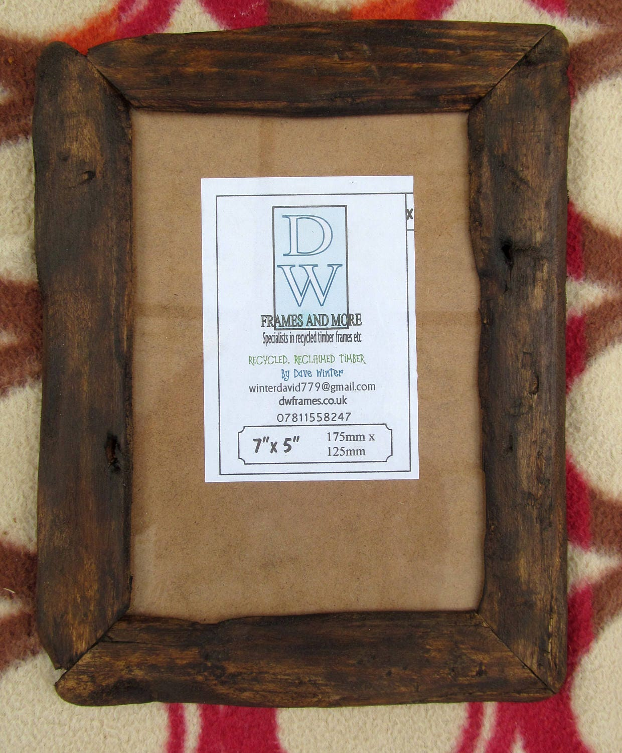 Rustic/driftwood style frame in locally sourced,recycled pine in ...