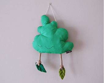 Tree Shaped Pillow, woodland nursery decor, baby room wall hangings, nursery hanging tree decoration, baby room wall hung, baby shower gift.