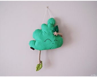 Nursery baby mobile tree, baby room wall decor, Tree Shaped Pillow, woodland nursery decor, baby room wall hangings, nursery room decor.