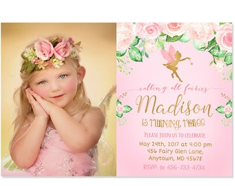 Fairy Birthday Invitation