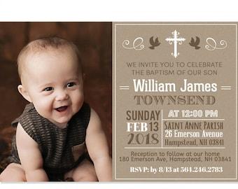 chalk boy baptism invitation baby boy baptism invitation etsy