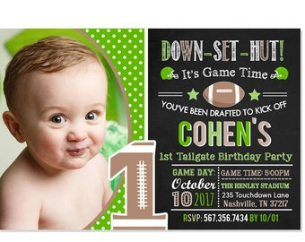 football birthday invitation football party football birthday any age pick team colors all star invite printable file