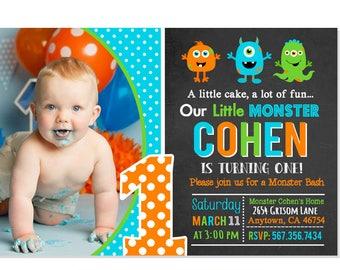 Chalk Monster Invitation, Monster Birthday Invitation, Monster Party, Little Monster First Birthday, Monster Bash Party Printable