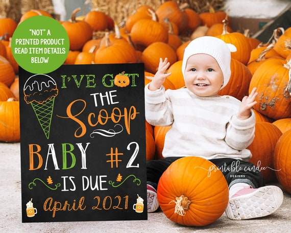 Ice cream Big Sister Pregnancy Announcement Fall Got the scoop