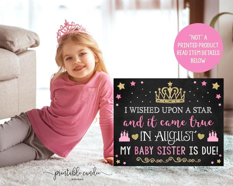 5743fe8a3 Princess Big Sister Announcement Crown Castle Pink Gold   Etsy
