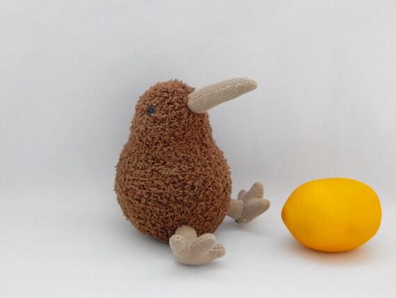 Kiwi Bird Plush Toy Bird Plushie Plush Stuffed Animal Sock Etsy