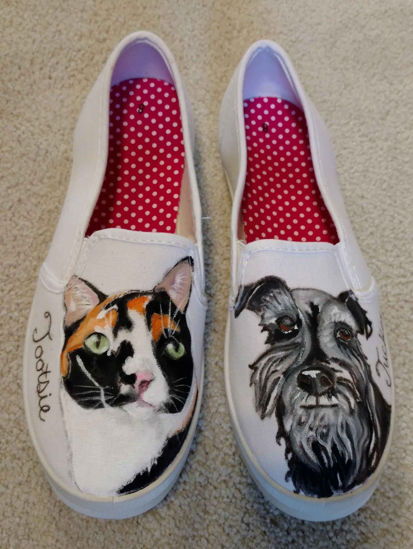 c779d74889d0 Custom Hand Painted Dog Shoes-Cat Shoes-Custom Portarait Pet