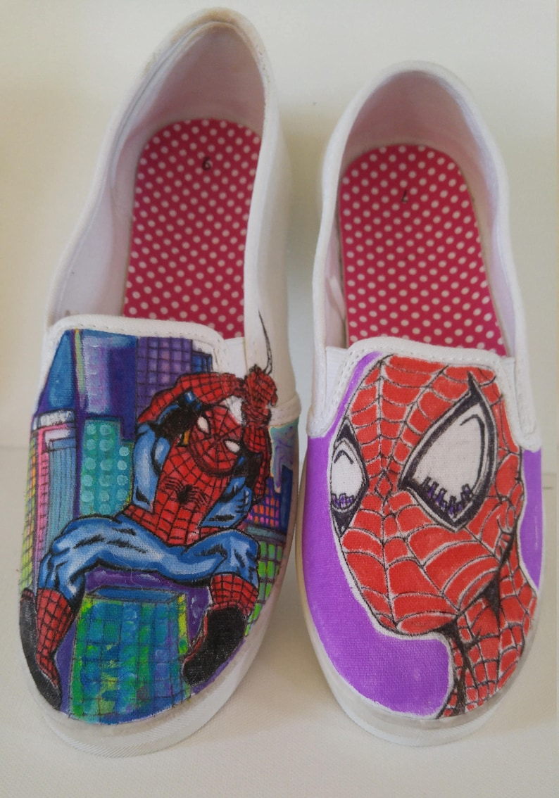 47fac5e8dce3 Spider Man Canvas Shoes-Slip On Shoes-Lace Up