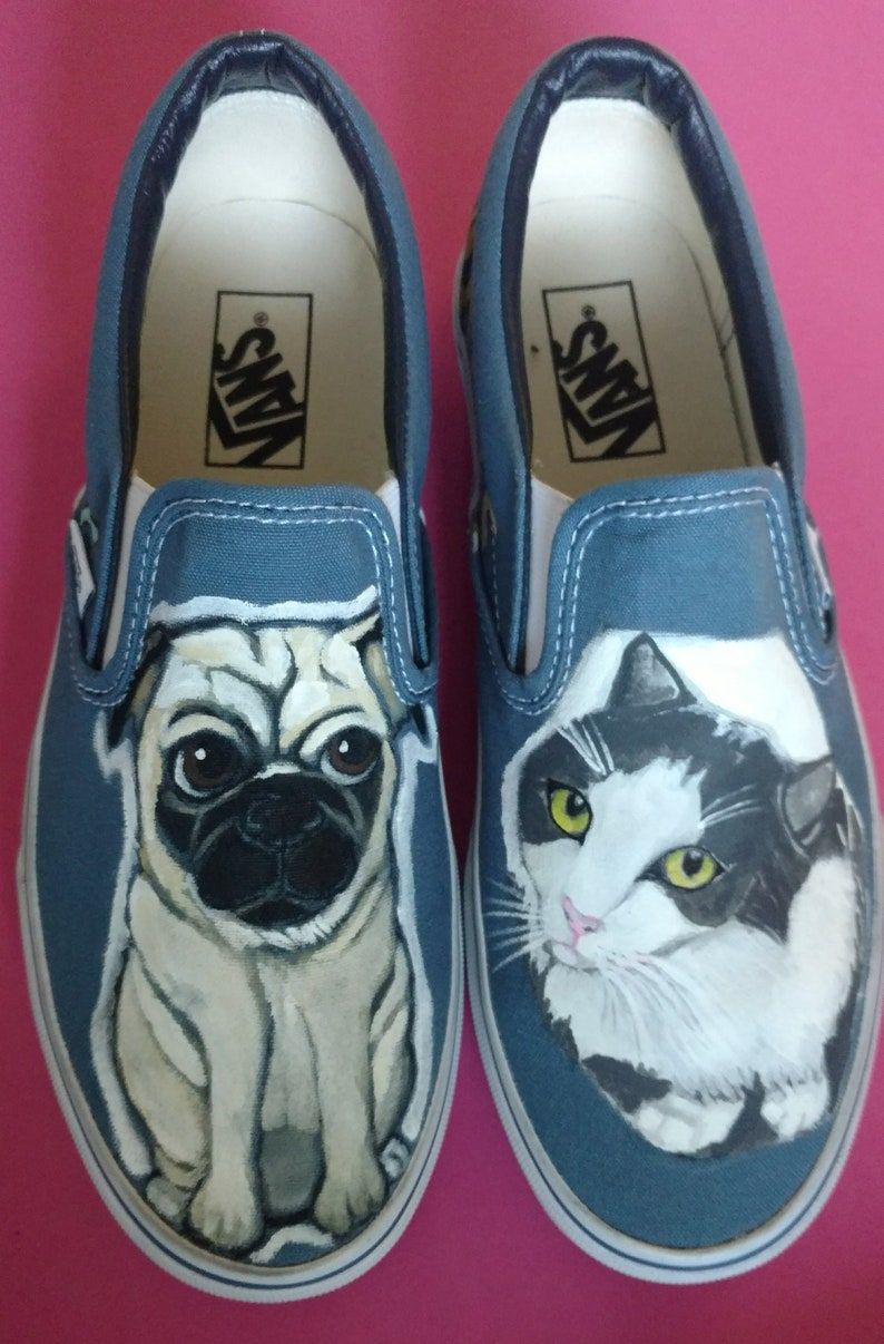 31cc698bfd Custom Hand Painted Dog Shoes-Cat Shoes-Custom Portarait Pet