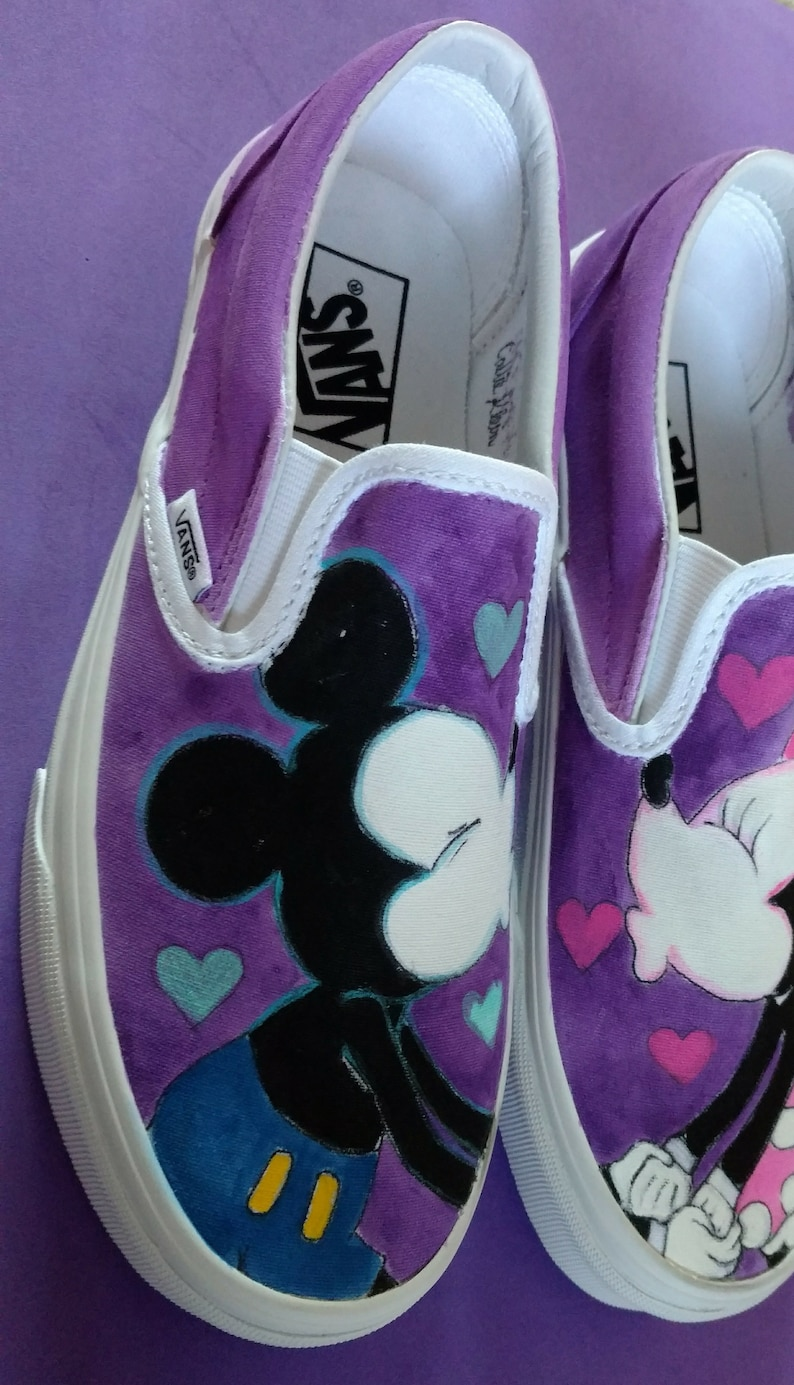 132b9fd676f853 Mickey Mouse Schuhe-Minnie Maus Schuhe-Handbemalte