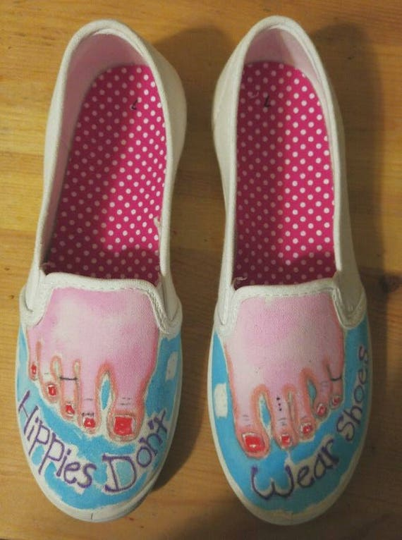 e7ed6619b639 Barefoot Shoes-Bare Feet-Hand Painted Canvas Slip On