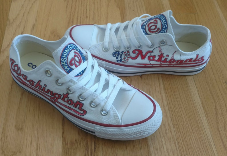 9ac6390b9d20f Hand Painted Baseball Shoes-Personalized Team Shoes-Baseball  Fans-Converse-Slip On Shoes-Vans-Washington Nationals-All Sports Teams-