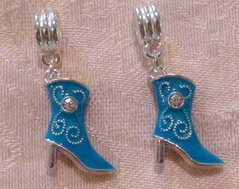 Cowboy Boot Charms 20mm x 17mm ~ Package of TWO