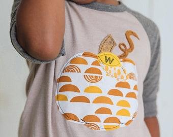 Neutral Shirt Baby | Neutral Pumpkins  | Neutral Pumpkin Baby Shower | Pumpkin Shirt | Neutral Tee | Monogram Baby Gift | monogram baby
