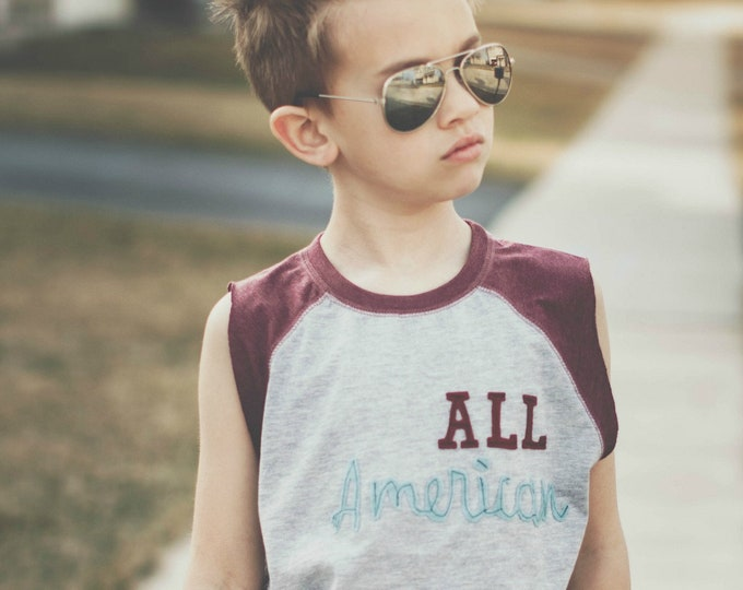 "Swanky Shank Gender Neutral Baseball Tee ""All American"""
