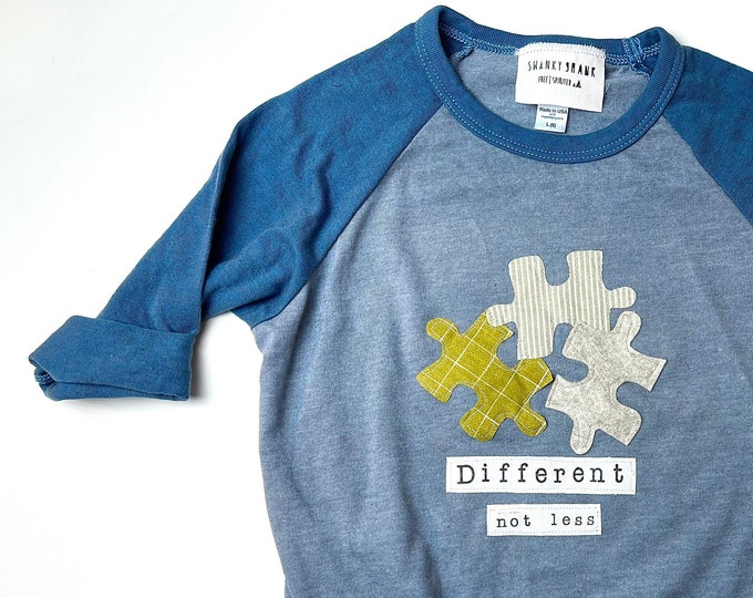 """Gender Neutral """"Different Not Less""""  Autism Awareness Tee"""