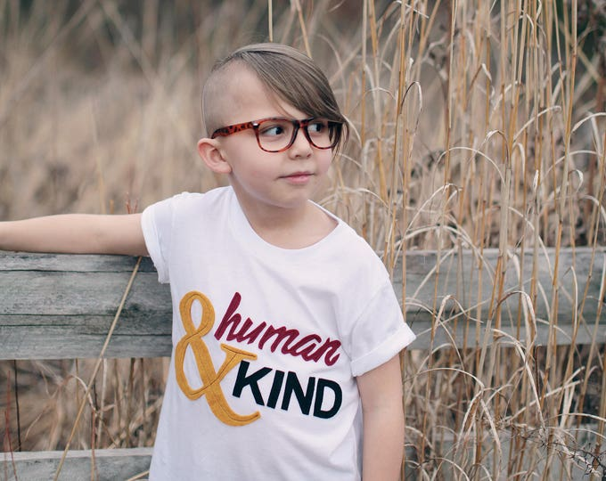"Swanky Shank ""Human AND Kind"" Gender Neutral Tee"