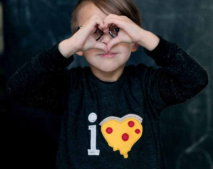 """Swanky Shank """"I Pizza"""" Valentine Short Sleeve Tee"""
