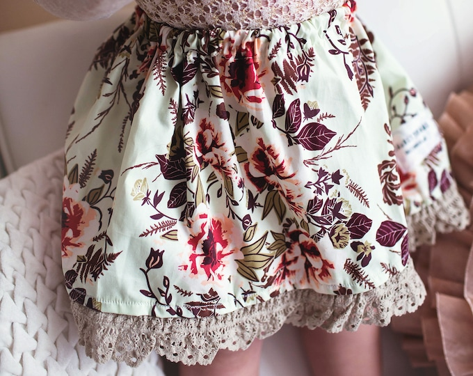 "Swanky Shank Girl ""A Florally Twirl"" Skirt"
