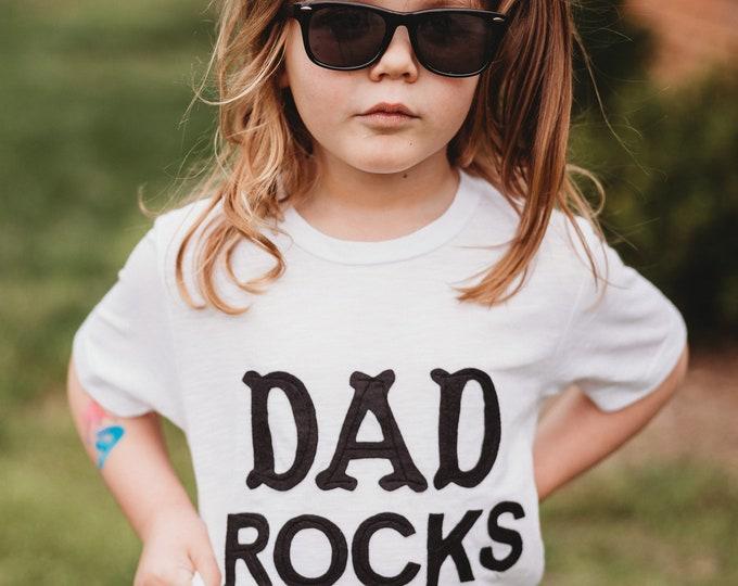 """Swanky Shank """"Dad Rocks"""" Gender Neutral tee"""