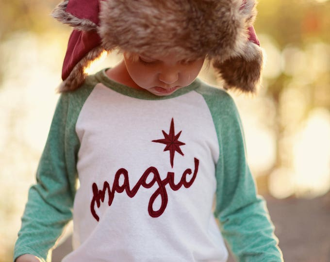 "Swanky Shank ""Christmas Magic"" Baseball Tee"