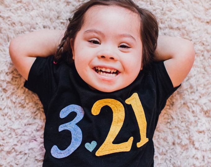 "Swanky Shank ""3.21"" Down Syndrome Awareness Tee; Inclusive Tee"
