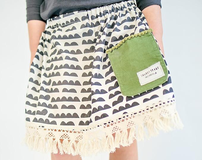 "Swanky Shank Girls ""Happy Cloudy Days' Pocket Skirt"