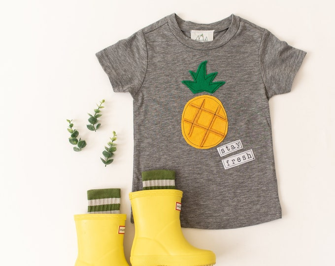 "Swanky Shank ""Stay Fresh"" Pineapple Tee"