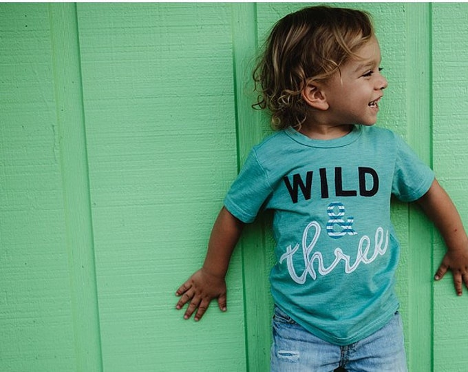 "Swanky Shank ""Wild & Three"" Three Year Old Tee"