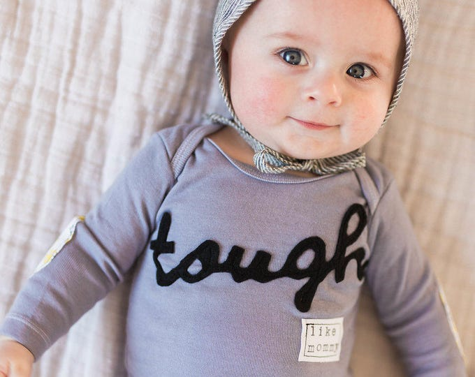 """Swanky Shank Gender Neutral """"Tough Like Mommy"""" Hand-Dyed shirt or bodysuit"""