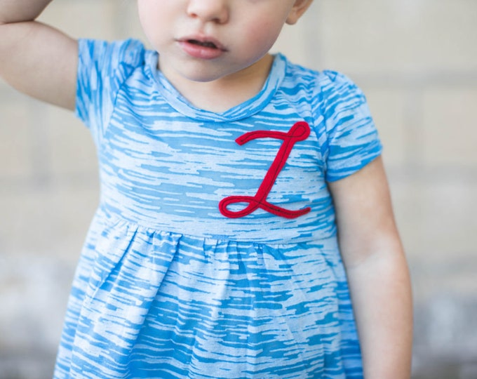 Swanky Shank Baby Girl Initial Dress