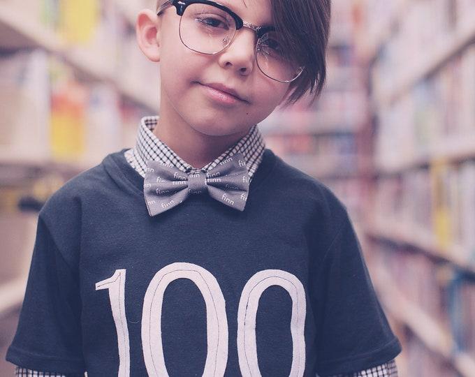 "Swanky Shank Gender Neutral ""100th Day of School"" Short Sleeved Tee"