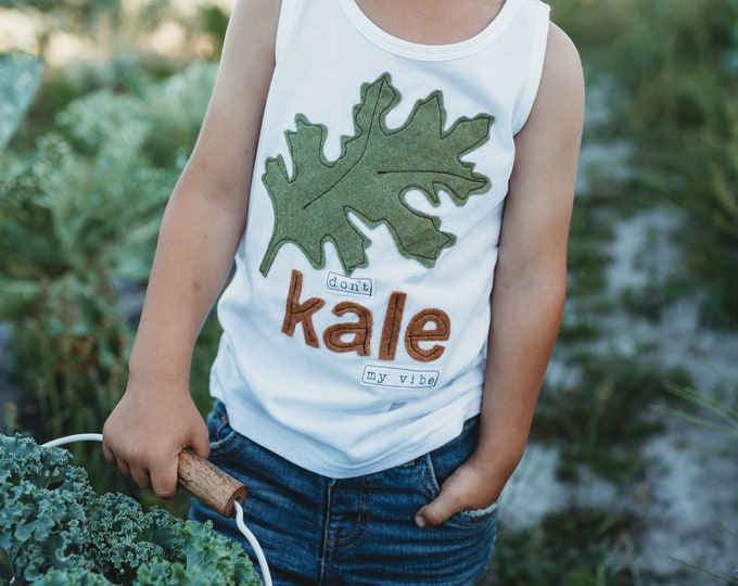 "Swanky Shank ""Don't KALE my Vibe"" Tank or Sleeveless Bodysuit"