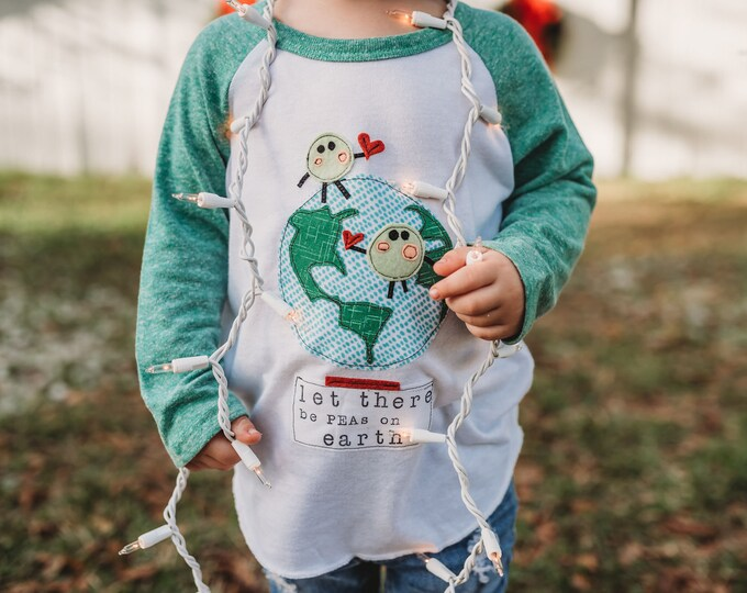 "Swanky Shank ""Let There Be Peas On Earth"" Baseball Tee"