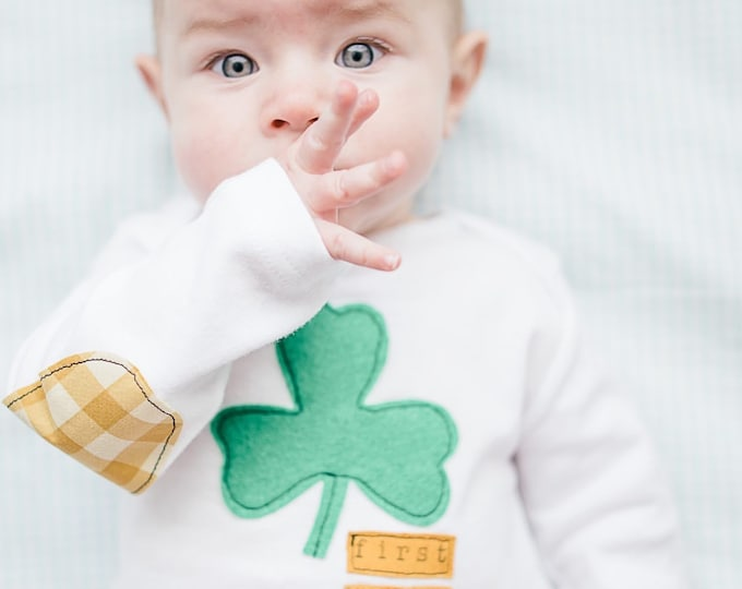 "Swanky Shank Baby St. Patty's Day ""First Timer"" Bodysuit"