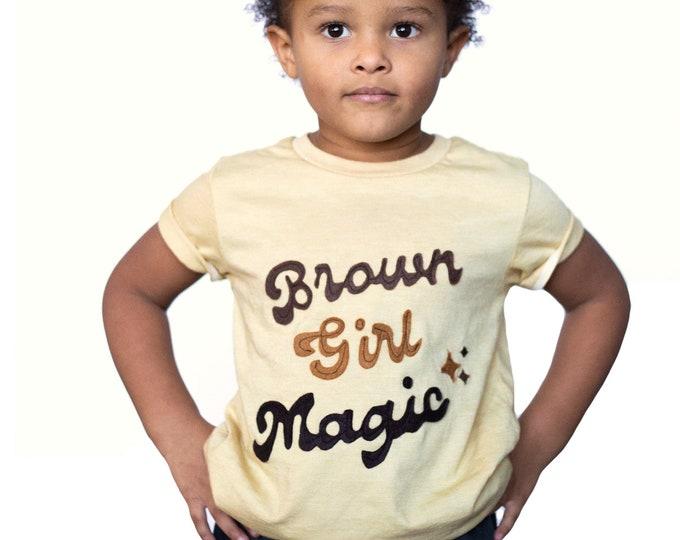 "Swanky Shank ""Brown Girl Magic"" Hand dyed Tee"