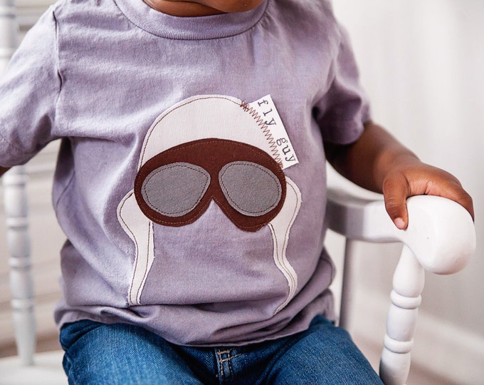"""Swanky Baby Hand Dyed """"Fly Guy"""" Bodysuit or Tee"""